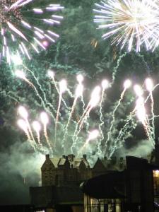 Edinburgh Castle Festival Fireworks